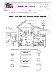 English Worksheet: Parts of the house