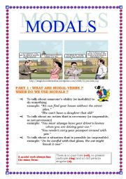 English Worksheets: Modals (language study+exercices) (6 pages)