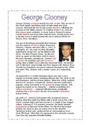 English Worksheets: George Clooney