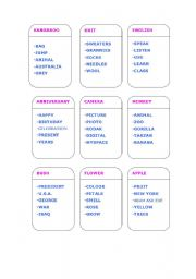 English Worksheets: TABOO GAME