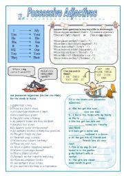 English Worksheet: Possessive Adjectives