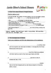 English Worksheet: Jamie Oliver�s School dinners 2/2