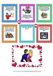 English Worksheets: a kiss according to different fields 2/2