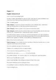 English Worksheets: complete english treasure hunt