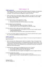 English Worksheets: essay hints for toefl