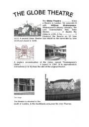 English Worksheet: The Globe Theatre
