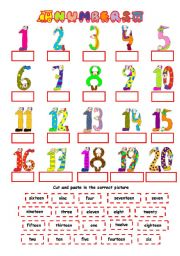 Spanish number games 1 20 here vocabulary worksheets numbers numbers 1