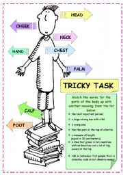 English Worksheets: Tricky Task (+ keys)