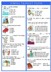 Present Simple Tense Test http://www.eslprintables.com/grammar_worksheets/verbs/verb_tenses/present_tense/SIMPLE_PRESENT_TENSE_TEST_170950/