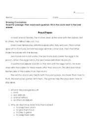 Drawing Conclusions Worksheets Grade 3 Pictures