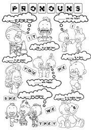English Worksheet: Pronouns (personal)