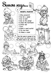 English Worksheet: Simon says (2)