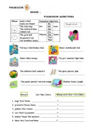 English Worksheets: POSSESSIONS