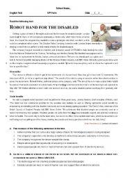 English Worksheet: Robot hand for disabled