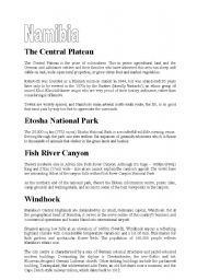 English Worksheets: Namibia