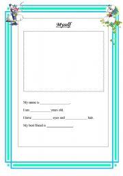 Myself Kindergarten Worksheets