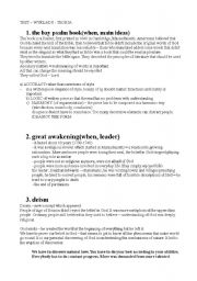 English Worksheets: American literature