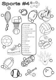 sports 4 esl worksheet by im lety. Black Bedroom Furniture Sets. Home Design Ideas