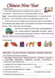 Chinese New Year - ESL worksheet by Melissa Hunag