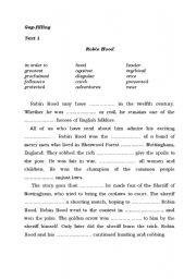 English Worksheets: Gap-filling Part 1