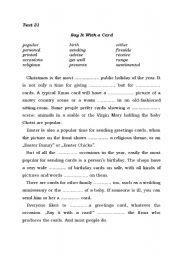 English Worksheets: Gap-filling Part 4