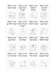 English Worksheet: ANIMALS BOARD GAME (2 of 2)