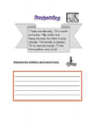 English Worksheet: Proofreading