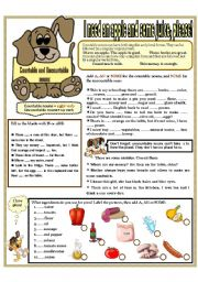 English Worksheet: I NEED AN APPLE AND SOME JUICE!