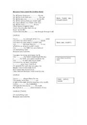 English Worksheet: Song lyrics of