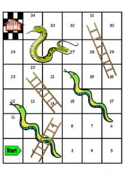 Blank Snakes and Ladders Board