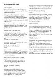 English Worksheets: Phishing Activity