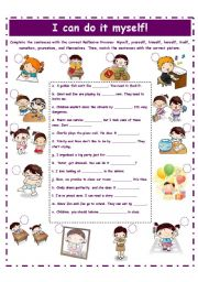 Reflexive and reciprocal pronouns worksheets