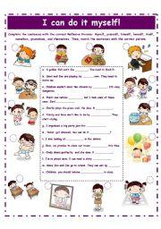 English Worksheet: REFLEXIVE PRONOUNS! 2