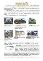 English Worksheet: Housing in the uSA