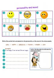 personality and mood adjectives esl worksheet by jamiejules. Black Bedroom Furniture Sets. Home Design Ideas
