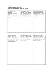 English Worksheets: Reading comprehension!