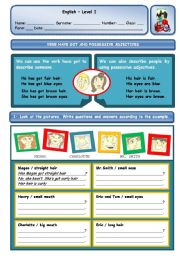 English Worksheet: VERB HAVE GOT AND POSSESSIVE ADJECTIVES
