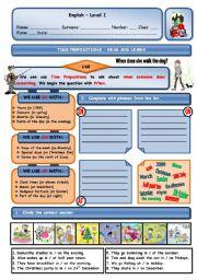English Worksheet: TIME PREPOSITIONS