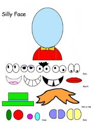 English Worksheets: Silly Face