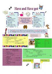 English Worksheet: Have vs. Have got