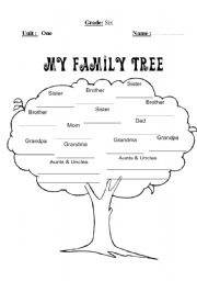 family tree this worksheet about tree for family level elementary age ...