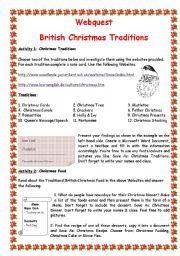 English Worksheet: British Christmas Traditions
