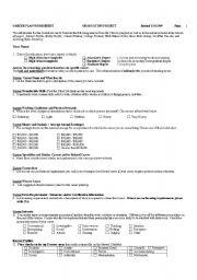 English Worksheets: career plan