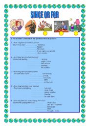 English Worksheets: FOR or SINCE - How long ........?