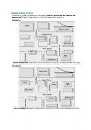 English Worksheet: get directions, fun game