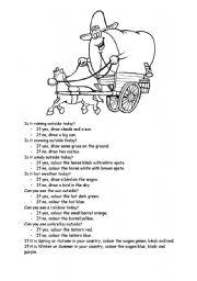 English Worksheets: Wagon Glyph