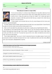 English Worksheet: internet addiction