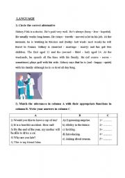 English Worksheets: language