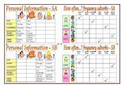 English Worksheets: Pairwork Activities ( part 1)+teacher�s notes.