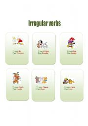 English worksheet: Cards to make irregular verbs easy